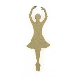 sujet en bois danseuse bras couronne