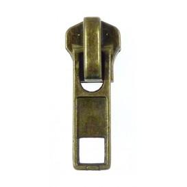 curseur fermeture à glissière laiton n°5