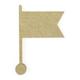 sujet en bois pointeur drapeau fanion