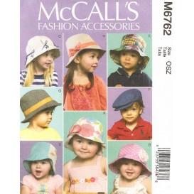 patron chapeaux pour bébés McCall's M6762