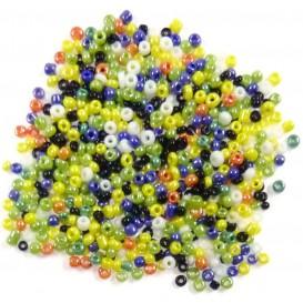 perles de verre ronde assortis vives 15 gr