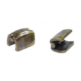2 arrêts haut métal bronze pour fermeture