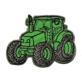 écusson tracteur vert thermocollant n°2