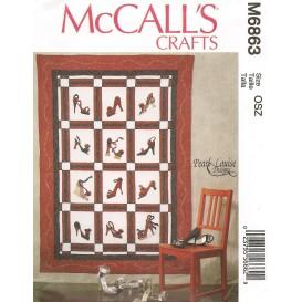 patron couvre-lit McCall's M6863