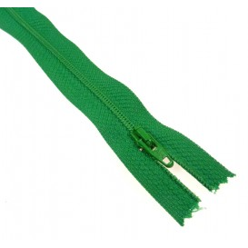 fermetures à glissières polyester vert herbe