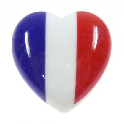 bouton déco coeur france 22mm