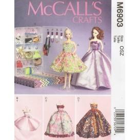 patron vêtements de poupée 30cm McCall's M6903