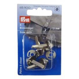4 patins métal argent à clouer pour sac 15mm