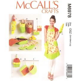 patron tablier, accessoires cuisine McCall's M6978