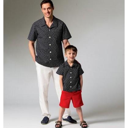 patron chemise, short homme/garçon McCall's M6972