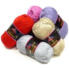 pelote de fil à tricoter himalaya mercan (17 coloris)