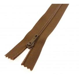 fermeture éclair prestil pantalon marron moyen