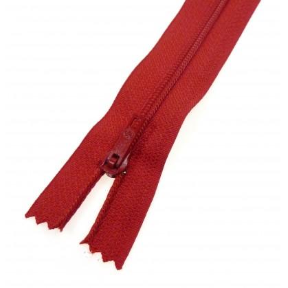 fermeture éclair prestil pantalon rouge