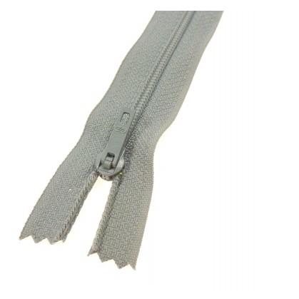 fermeture éclair prestil pantalon gris fer