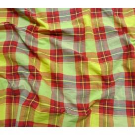 coupon 1m madras jaune rouge laize 160cm