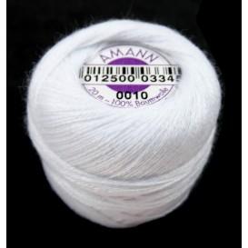 fil à repriser amann 100% coton blanc 20m