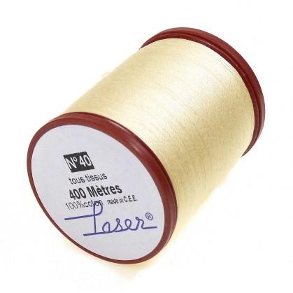 fil à coudre en coton écru 400m