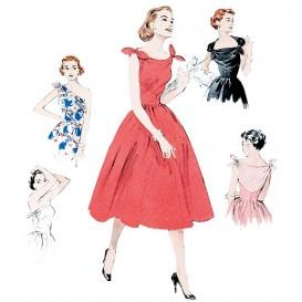 patron robe rétro 1953 Butterick B5708