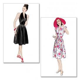 patron robe rétro 1947 Butterick B5209