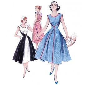 patron robe rétro 1952 Butterick B4790