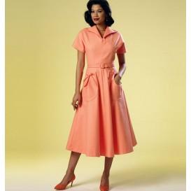 patron robe rétro 1950 Butterick B6055