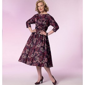 patron robe rétro 1960 Butterick B6242