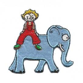 écusson éléphant et garçon thermocollant