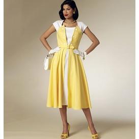 patron robe rétro 1953 Butterick B6211