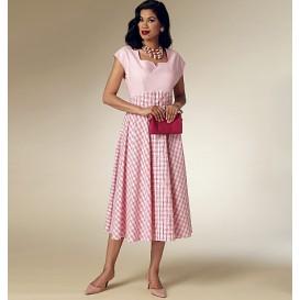 patron robe rétro 1952 Butterick B6212