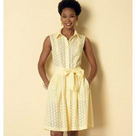 patron robe à col Butterick B6333