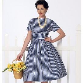 patron robe rétro 1961 Butterick B6318