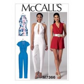 patron barboteuses, combinaisons McCall's M7366