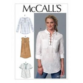patron hauts et robe McCall's M7391