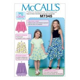 patron enfant jupes McCall's M7345