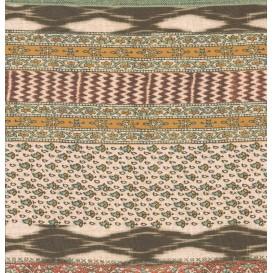 tissu voile polyester frises largeur 150cm x 50cm