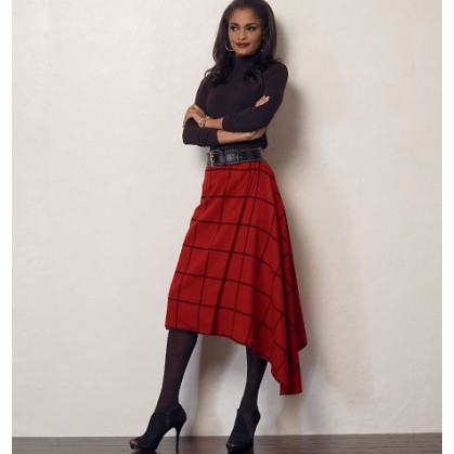 patron jupe semi-ajustée Vogue V8956