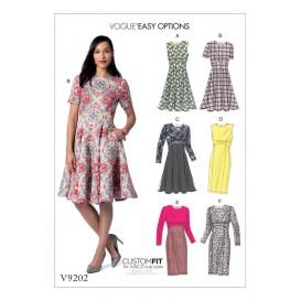 patron robe à corsage Vogue V9202