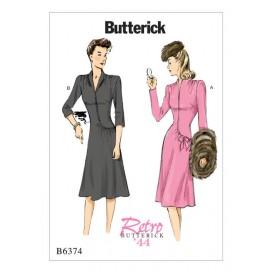 patron robe rétro 1944 Butterick B6374