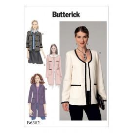 patron veste semi-ajustée Butterick B6382