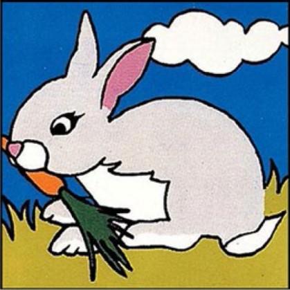 kit canevas margot lapin gros trous