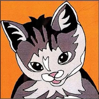kit canevas margot chat gros trous