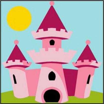 kit canevas margot château de princesse gros trous