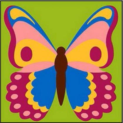 kit canevas margot papillon gros trous