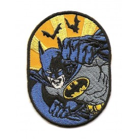 écusson batman ovale thermocollant
