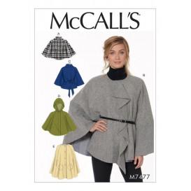 patron capes et ceinture McCall's M7477