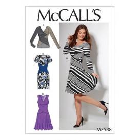 patron haut et robes McCall's M7538
