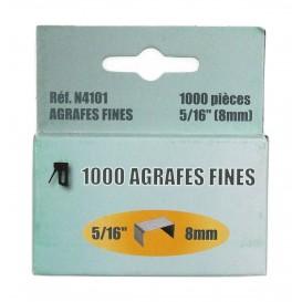 boite de 1000 agrafes fines 8mm