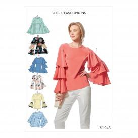 patron hauts ajustés Vogue V9243