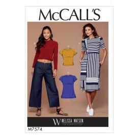 patron hauts, tunique et robe McCall's M7574
