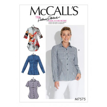 patron chemises semi-ajustées McCall's M7575